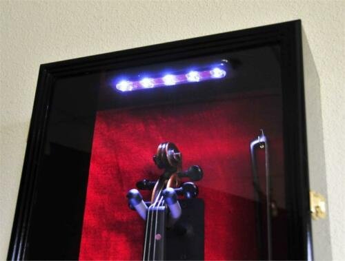 Gretsch Guitar Display Case Cabinet Rack Holder LED