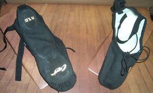 New-Box-Capezio-Split-Sole-Canvas-Ballet-shoes-Black