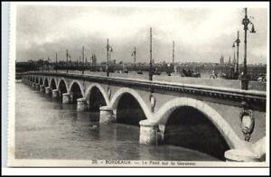 BORDEAUX-France-CPA-1920-30-Bruecke-Pont-Garonne-Bridge