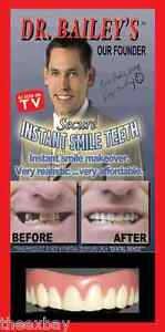 SECURE-INSTANT-SMILE-False-Fake-Cosmetic-Dentures-Teeth