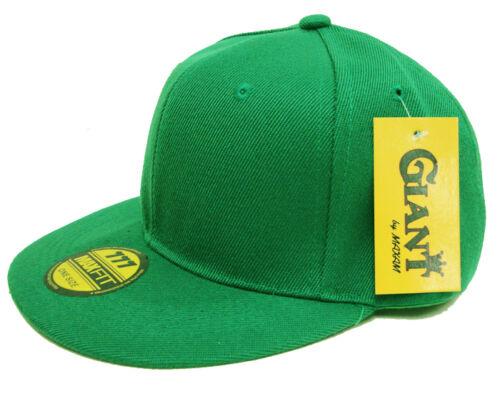 NEW Plain Snapback Flat Bill Hat Cap BLACK WHITE RED ORANGE GOLD GREEN BLUE NAVY