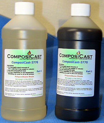 ComposiCast Urethane Casting Resin Plastic Polymer 2  pounds