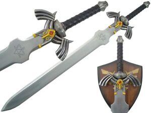 Zelda-Twilight-Princess-Links-Master-Sword-Video-Game-Plaque-Blade-Steel-New
