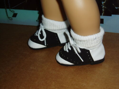 "Saddle Shoes 18/"" Doll Clothes Fits American Girl Dolls Black and White"