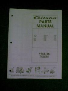 Gilson tiller models ft2g ft5c ft4f rt5s parts manual ebay gilson tiller models ft2g ft5c ft4f rt5s parts fandeluxe Images