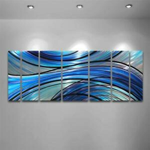 Metal Wall Art Modern Abstract Painting Sculpture Home