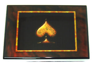 Card-Case-Box-with-decorative-Spade-Holds-2-Decks-Of-Cards-Great-Gift-FREE-Ship