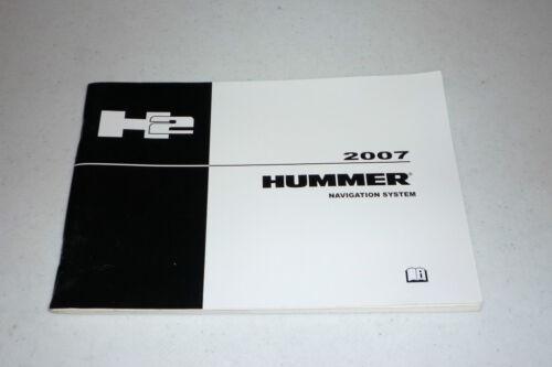 2007 HUMMER H2 NAVIGATION SYSTEM OWNERS MANUAL 07