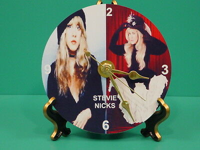 STEVIE NICKS - Fleetwood Mac - Photo - Designer Collectible GIFT Clock 02