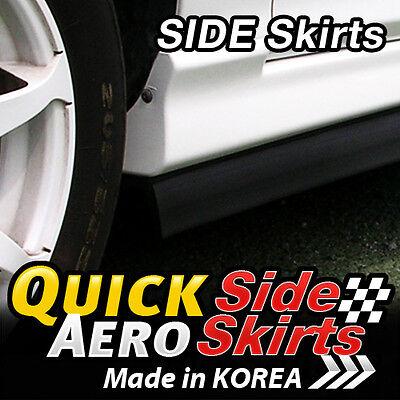 Black Side Skirts Lip Rubber Splitter Chin Trim Body Kit for Sedan SUV RV