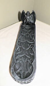 NEW-COLLECTIBLE-GARGOYLE-INCENSE-BURNER-HOLDER-TRIBAL-DESIGN-WICCAN-GOTHIC-10