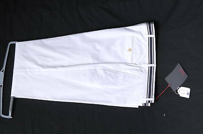 ITALIAN BOATS PANTS BY TURIST-WHITE COTTON-$236-NWT