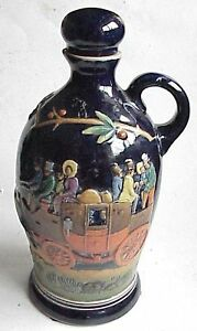 Vintage German Stoneware Pottery Wine Jug Pitcher