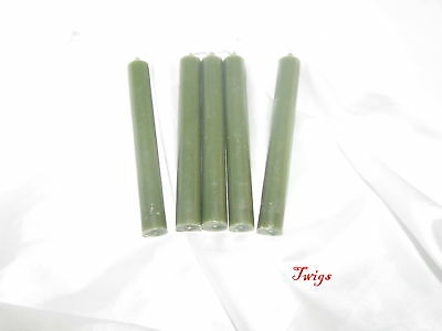 "Green  4"" Ritual Chimes Candles 5 pack Wiccan Hoo Doo"