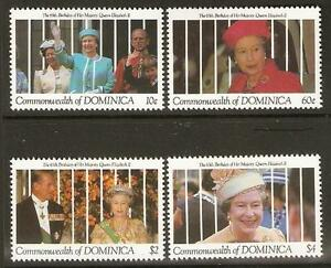 DOMINICA SG1433/6 1991 65th BIRTHDAY QEII MNH