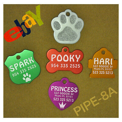 Pet Tag Id Custom Dog Cat Engraved Name Charm With Free Ring Tags Personalized