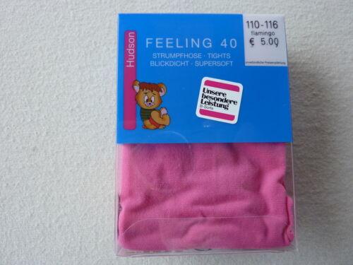 UVP 5,00 € 98-104 110-116 122-128 HUDSON Kinder Feinstrumpfhose 40den Feeling