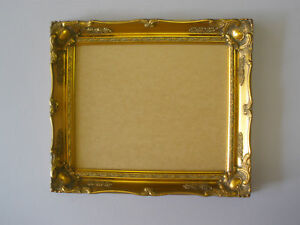 Gold-shabby-ornate-swept-14x11-inch-picture-frame