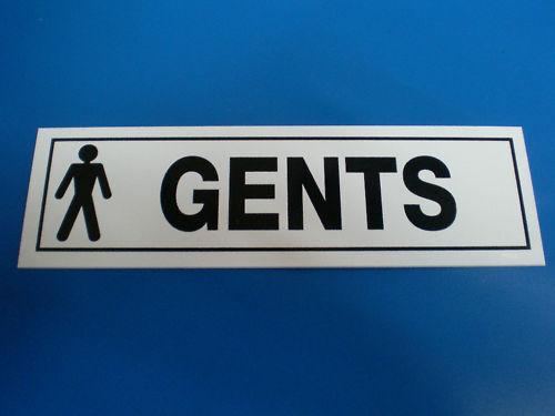 GENTS TOILET DOOR SIGN plastic or sticker FREE POST