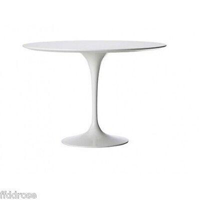 Saarinen Style Tulip Table White Fiberglass Dining Table- 7  Sizes available