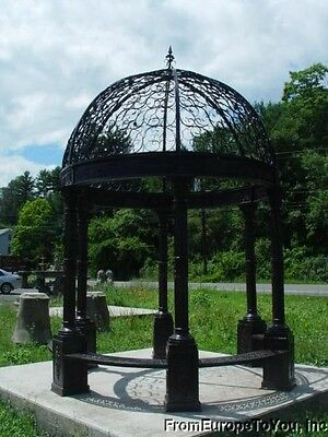 CAST IRON VICTORIAN STYLE CAST IRON 14FT. TALL GAZEBO - GAZEBO#1