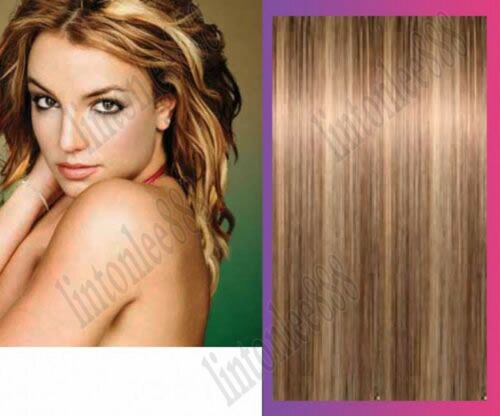 8-613# _ 100% Human Hair Extensions - Clip in hair extension / one piece 5 clips
