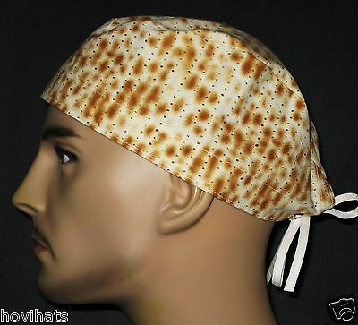 JEWISH MATZO / MATZAH CRACKERS SURGICAL SCRUB HAT / FREE CUSTOM SIZING