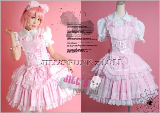 Lolita Cosplay Vampire hunter Bulleta scottish tartan costume dress 3pc HA047 P