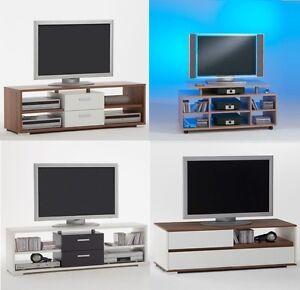 Large-Wood-Finish-TV-Stand-HiFi-Unit-for-32-034-amp-Plasma