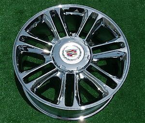 NEW-Cadillac-Escalade-PLATINUM-Chrome-22-inch-OEM-Factory-GM-Spec-WHEEL-5358