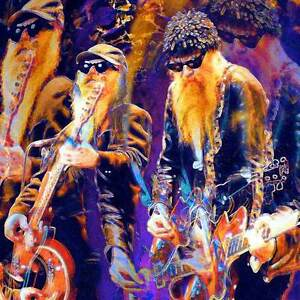 ZZ-TOP-LARGE-Rock-Roll-20-x-20-GICLEE-POSTER-PRINT-Eisner