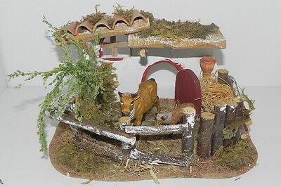 Nativity Scene Accessory Cows Presepio Pesebre Barn Farm Diorama Western Corral