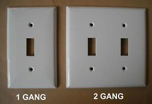 Switch Plug Plastic Wall Cover Plate 1 2 3 4 Gang White Ebay