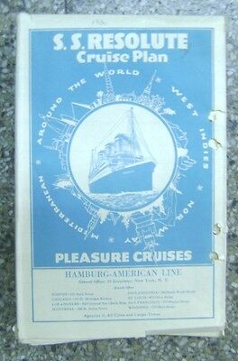 Brochure S.S Resolute Hamburg American Ship Plane 1930