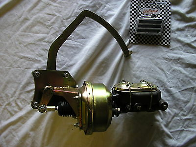 """1935-41 Ford Truck 7"""" DUAL Power Brake Booster Master Cylinder Pedal Assembly"""