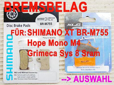 BREMSBELAG M04 BR-M755 RESIN / TR!STUFF TS 220 S / XLC -> FÜR XT HOPE GRIMECA