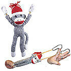 Superfly-Flying-Slingshot-Sock-Monkey-with-Screaming-Sound-New-78111