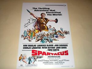 SPARTACUS-PP-SIGNED-12-X8-POSTER-KIRK-DOUGLAS