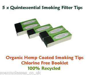 5-x-Cigarette-Rolling-Papers-Roach-Filter-Tips-Booklets-Quintessential-Hemp