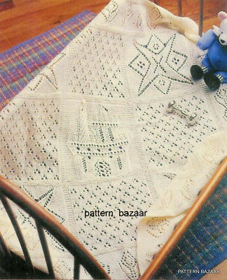 Magical Dreams Baby Blanket Vintage Pattern to Knit