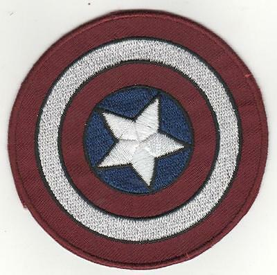 CAPTAIN AMERICA SHIELD    IRON ON  PATCH BUY 2 GET 1 FREE =3