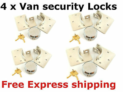 4 Van Lock Security Locks 73mm Shackleless Padlock Hasp