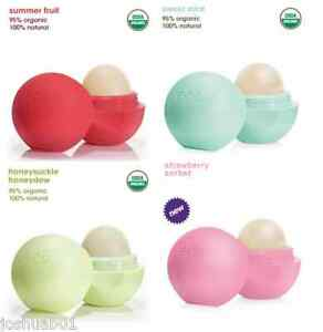NEW-4-EOS-Lip-Balm-Honeydew-MINT-SummerFruit-Strawberry