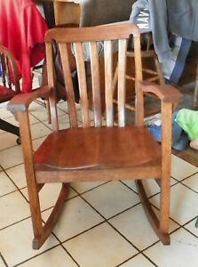 Quartersawn-Oak-Mission-Rocker-Rocking-Chair-R74