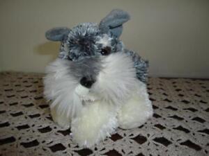 Aurora Gray White Schnauzer Dog Handmade Stuffed Plush