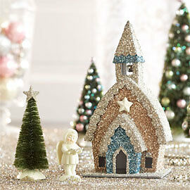 Dept 56 Snowbabies Snow Dream GLITTER CHURCH SET/3 2011