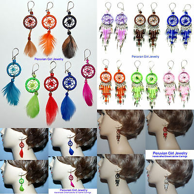 40 EARRINGS WHOLESALE DREAM CATCHER FEATHER JEWELRY LOT