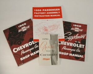 56-Chevy-Manual-Literature-Set-NEW-1956-Guide-GM