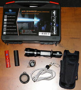 OLIGHT-M20S-X-TACTICAL-CREE-XML-LED-FLASHLIGHT-500-LUMEN-with-BATTERIES-amp-POUCH