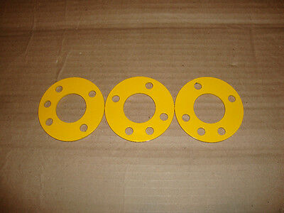 "ANTENNA GUY RING FOR 48"" FIBERGLASS + ALUMINUM MAST SECTIONS LOT OF 3 YELLOW"